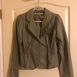 Apt 9 Army Green Crop Jacket Sz 10